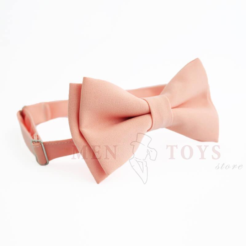 персиковая галстук бабочка