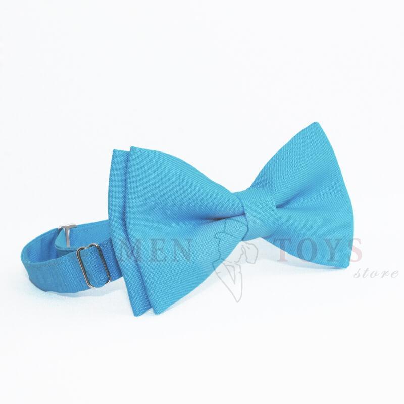 голубая галстук-бабочка