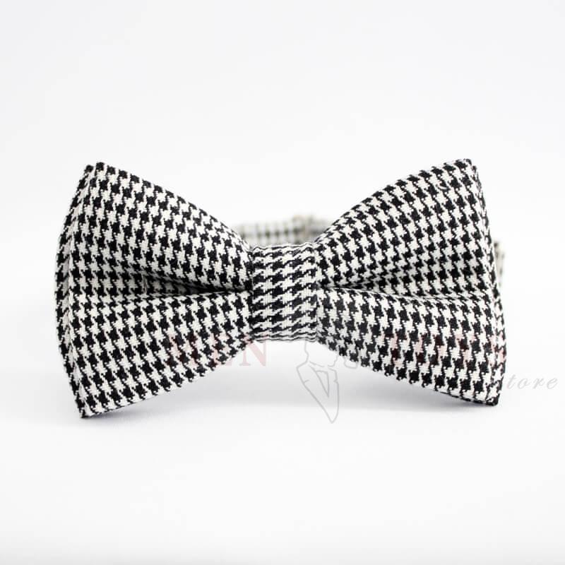 """галстук бабочка с узором """"гусиная лапка"""""""