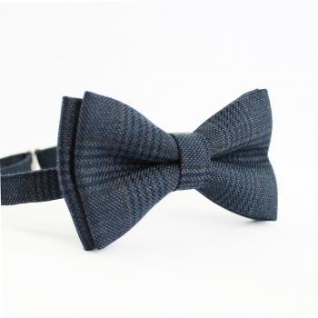 Твидовая галстук-бабочка клетчатая