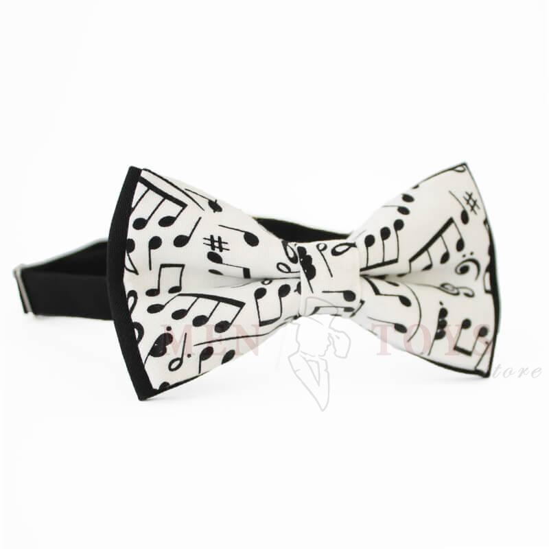 "галстук-бабочка с нотами ""ноты"""