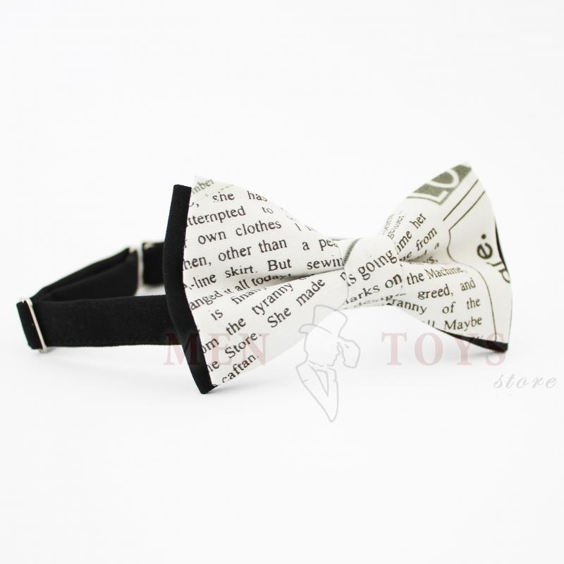 галстук-бабочка с текстом