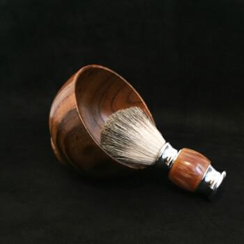 Деревянная чаша для бритья, взбивания пены