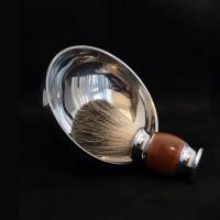 Металлическая чаша для бритья с двойным дном