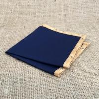 Синий нагрудный платок, кант с цветами
