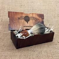 Деревянная подарочная коробочка для помазка в комплекте со скидкой