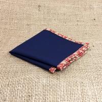 Платок-паше темно-синего цвета с ярким кантом в комплекте со скидкой