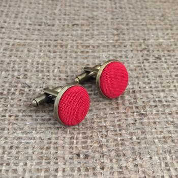 Оригинальные красные запонки