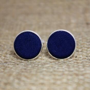 Оригинальные темно-синие запонки