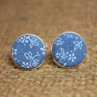 Оригинальные запонки голубые
