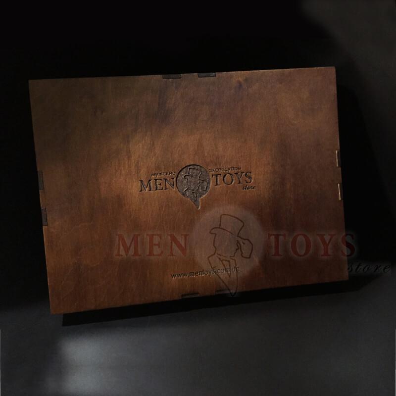 деревянная подарочная коробочка для кожаных папок