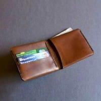 Кожаный кошелек ручной работы