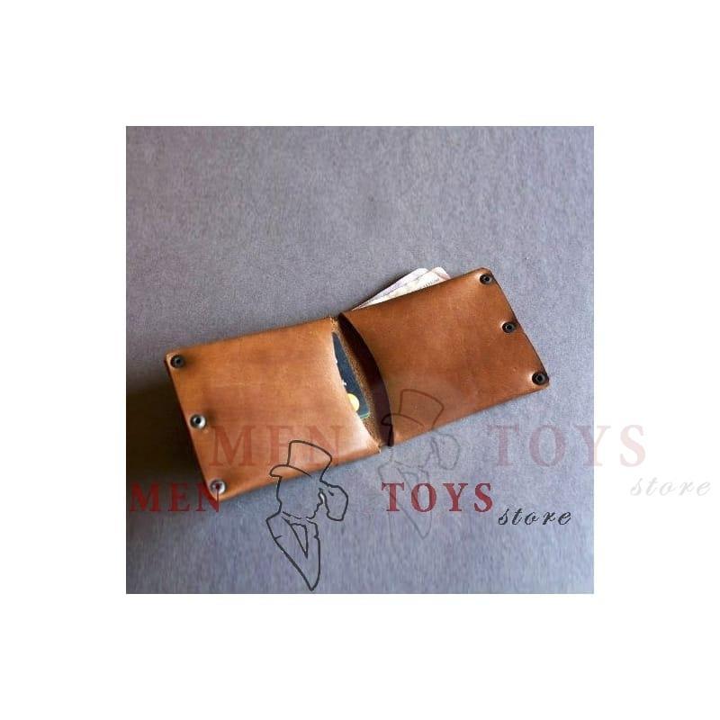 кожаный кошелек ручной работы, заклепки