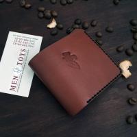 Компактный кожаный кошелек ручной работы в комплекте со скидкой
