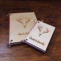 Блокнот ручной работы из дерева SketchBook
