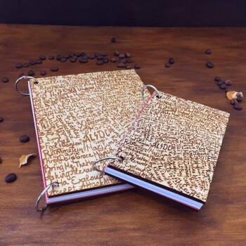 Деревянный блокнот с текстовой гравировкой