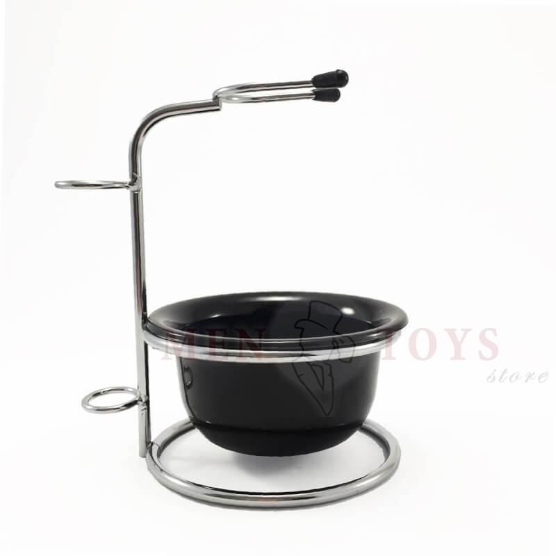 подставка для помазка и бритвы с чашей