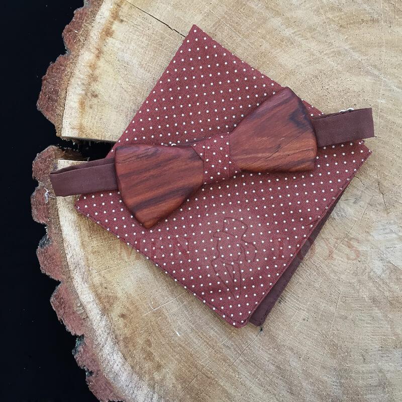 стильная сплошная бабочка из дерева