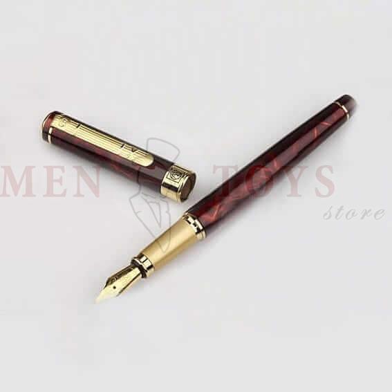 перьевая ручка с рисунком под камень агат