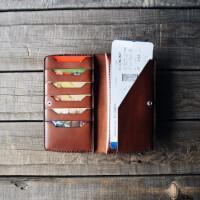 Вместительное портмоне из кожи  в комплекте со скидкой