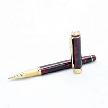 Ручка роллер с рисунком под камень агат