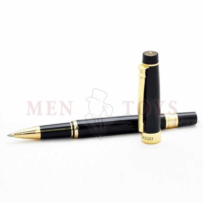 элегантная ручка-роллер с позолоченными елементами