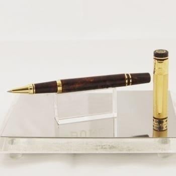 """Оригинальная ручка-роллер коричневый """"мрамор"""""""