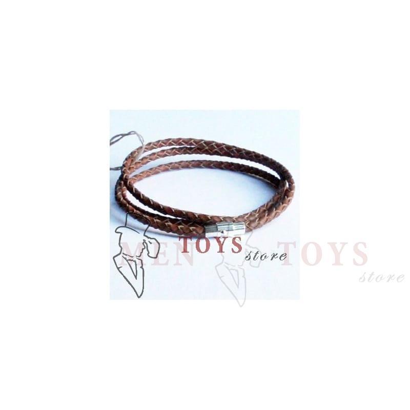плетеный кожаный браслет с застежкой