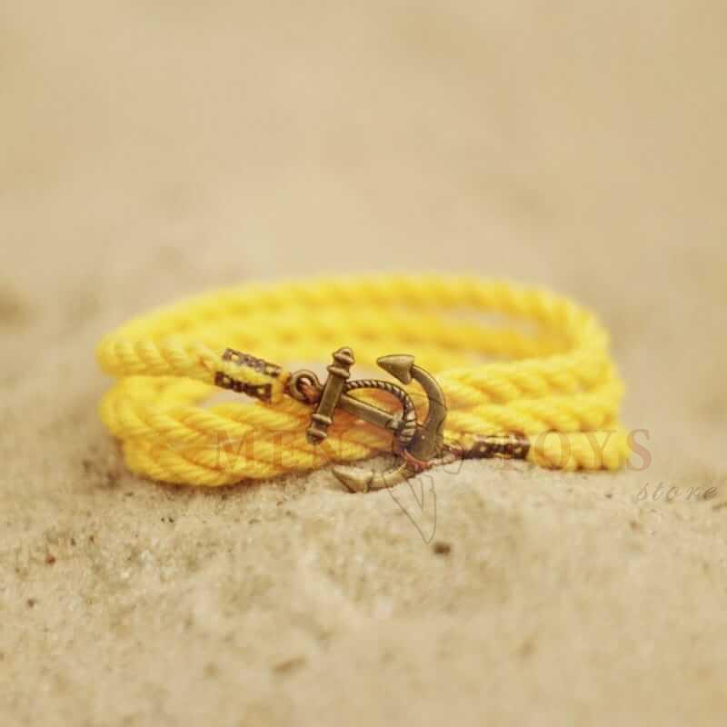 желтый браслет с якорем. 3оборота