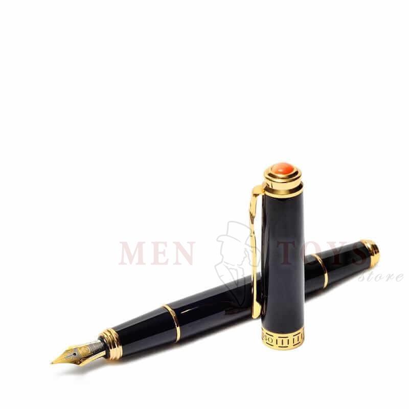 """перьевая ручка """"лувр"""" c камнем и узором"""