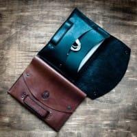 Кожаная сумка для документов / планшета в комплекте со скидкой