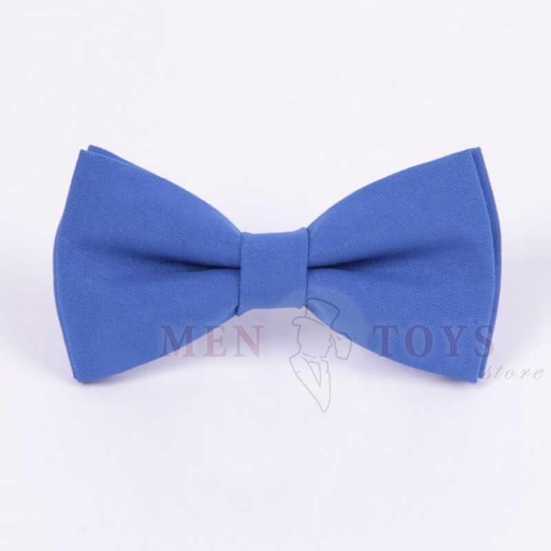 галстук-бабочка светло-синего цвета