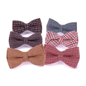 Твидовые галстуки-бабочки