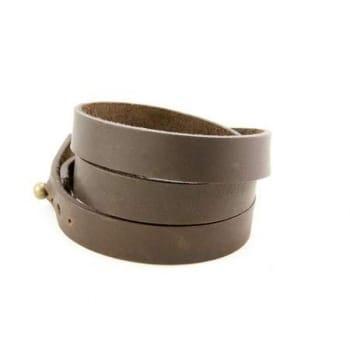 Широкий браслет из натуральной кожи (черн/кор)