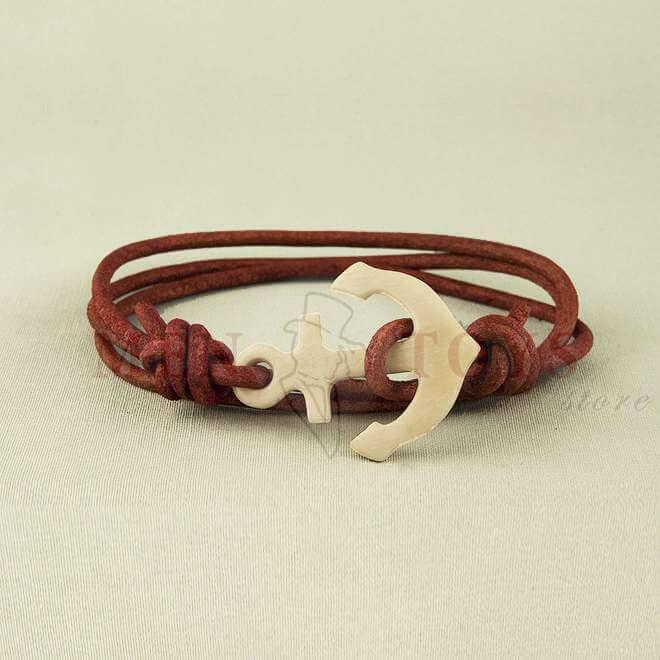 браслеты с якорем из кости
