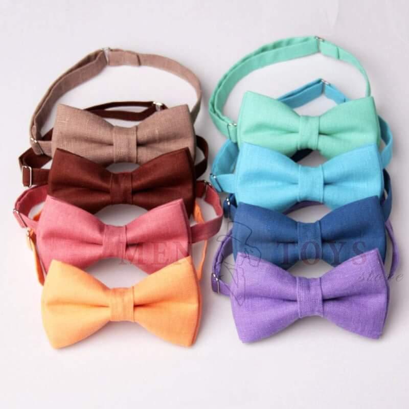 галстук бабочки из 100% льна на выбор