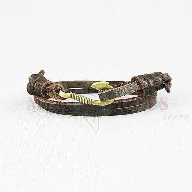 браслеты из кожи с металлическим крючком