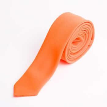 Оранжевый галстук из костюмной ткани
