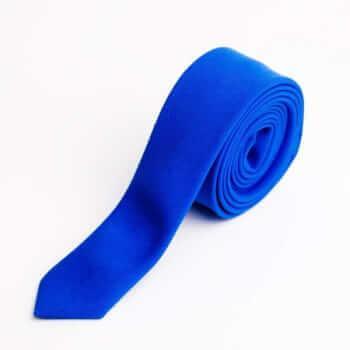 Светло-синий галстук из костюмной ткани