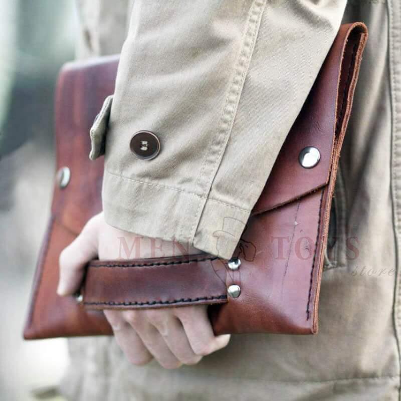 кожаная сумка для документов а4